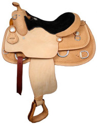 "16"", 17"" Premium Leather Double T Training Saddle with Suede Leather Seat"