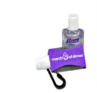 March of Dimes Hand Sanitizer with Jacket Clip