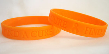 Orange Ribbon Find A Cure Wristbands - 5 Pack