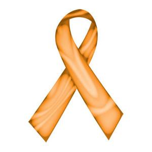 Orange Swirl Ribbon Tattoo - 5 Pack