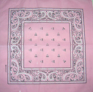 Pink Paisley Bandana