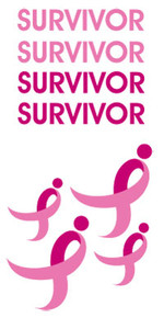 Susan G. Komen SURVIVOR Tattoo Sheet - 5 Pack