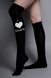 Snow Sugar Over the Knee I 'Heart' Snow Socks