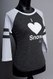 Snow Sugar I 'Heart' Snow baseball tee