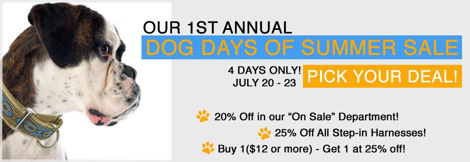 Dog Days of Summer Sale
