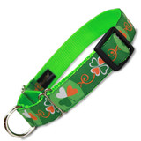 St. Patrick's Martingale dog Collar, Irish, Limited Slip, Safety