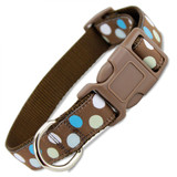 Polka Dot Dog Collar in Blue