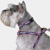 Heart-Wings Dog harness, Choke-Free Adjustable Stepin Style in Pink