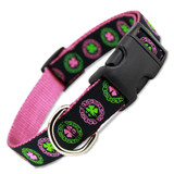 Irish Dog Collar, Celtic Knots & Clover, Quick Release Snap On Style Buckle,  Adjustable
