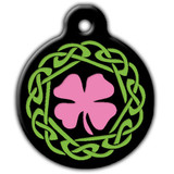 Irish Dog ID Tag, Pink