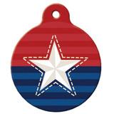 Patriotic Dog ID Tag, American, Stars & Stripes ID Tag