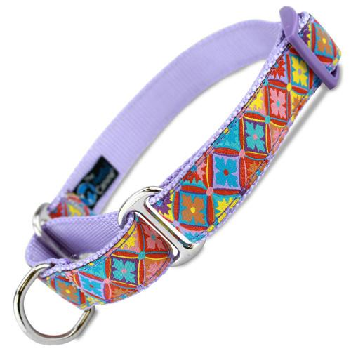 Spring Kaleidoscope Martingale Collar, Spring Fashion dog collar, Easter dog collar