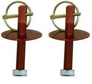 Hood Pins Pair-Red