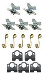 """Quarter Turn Winged Fastener with Springs and Plates- 5/16"""""""