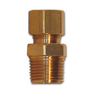 Brass Fitting 3/16 compression x 1/8 Male