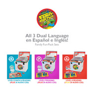 All 3 Family Fun-Pack Dual Language Sets: R, P, and A (Spanish/English)