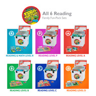 All 6 Family Fun-Pack Reading Sets: R, P, A, B, C, and D