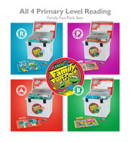 All 4 Primary Level Reading Family Fun-Pack Sets: R, P, A, & B