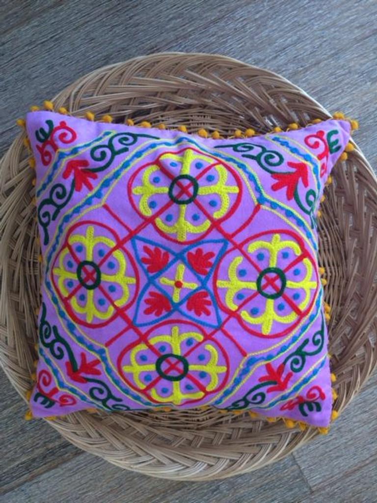 Suzani Lilac Cushion