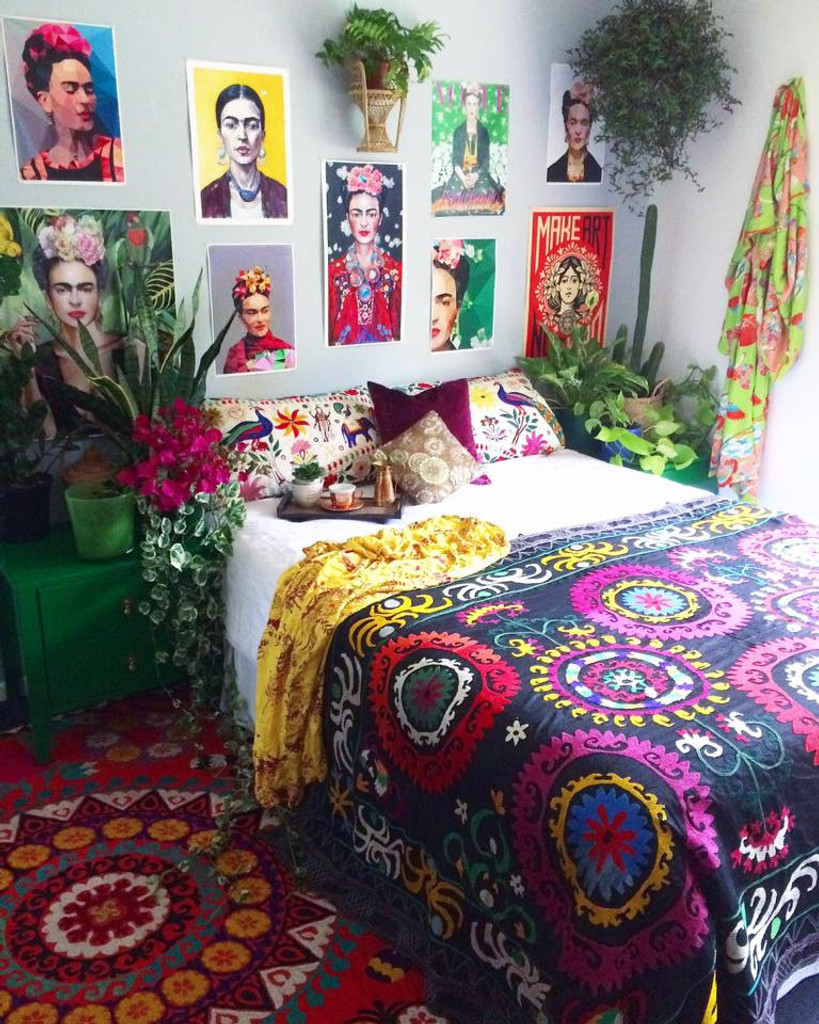 Used here in the Frida room on the bed