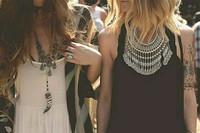 BOHO Bohemian coin necklace