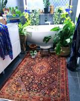 """""""Afareen"""" Vintage Hand Loomed Persian Rug"""
