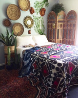 Antique Hand Made & Painted Moroccan Screen