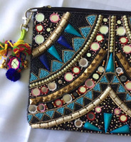 MALI heavily beaded clutch