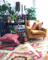 Large Vintage Turkish Kilim Rug