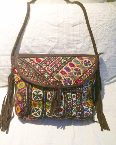 Suede & Banjara Tapestry Bag