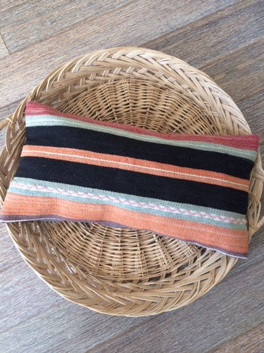 Vintage Striped Kilim Lumbar Cushion
