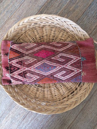 Vintage Kilim 'Pink Diamond' Lumbar Cushion