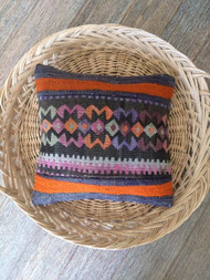 Vintage Orange & Purple Kilim Lumbar Cushion