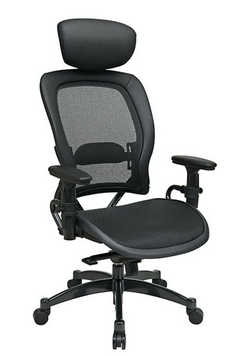 professional breathable mesh black chair with adjustable headrest