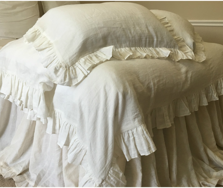 White Bed Skirt Posts Superior Custom Linens