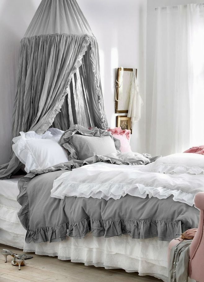 Pink Pop Out In Grey Bedroom