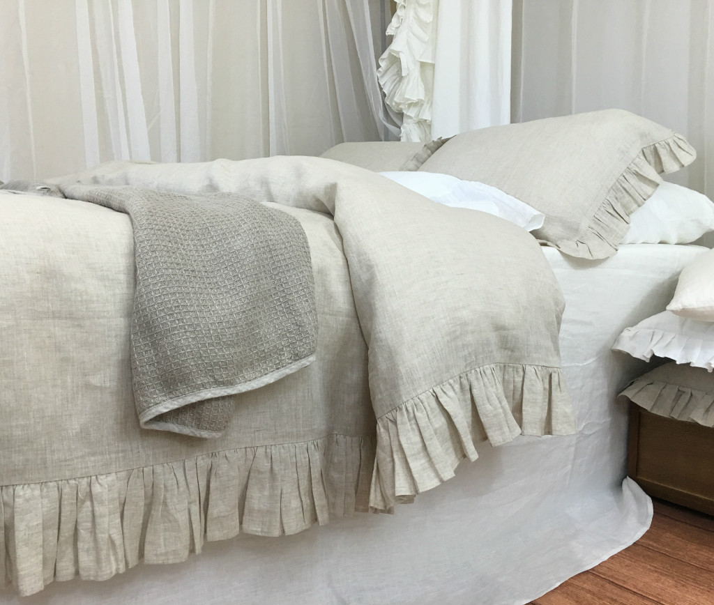 Ruffle Linen Duvet Cover Handmade Only At Superior Custom