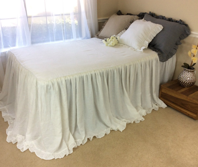 Grande Bedspread with mini ruffle hem | Handcrafted by Superior Custom Linens