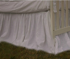 White Crib skirt