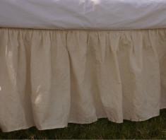 Ivory cream crib skirt