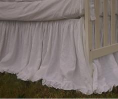 crib skirt with mini ruffle