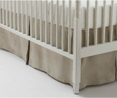 Crib Skirt, box pleate