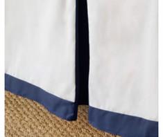Box Pleat Crib Skirt with Border Trim