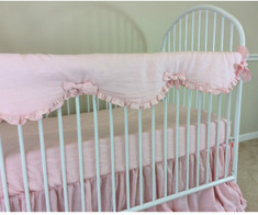 baby girl crib rail guard handcrafted by superior custom linens