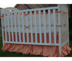crib bumper and crib skirt