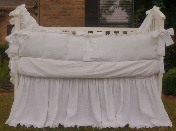crib bumper with gathered crib skirt handcrafted by superior custom linens