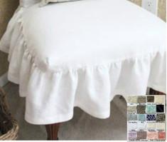 Linen Chair Slipcover with Ballerina Sash Ties