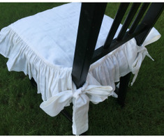 white linen chair slipcover   Handcrafted by SuperiorCustomLinens