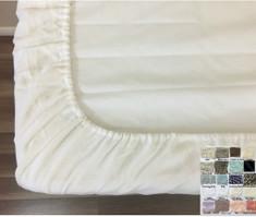 Crib Fitted Sheet - Deep Pocket, Natural Linen