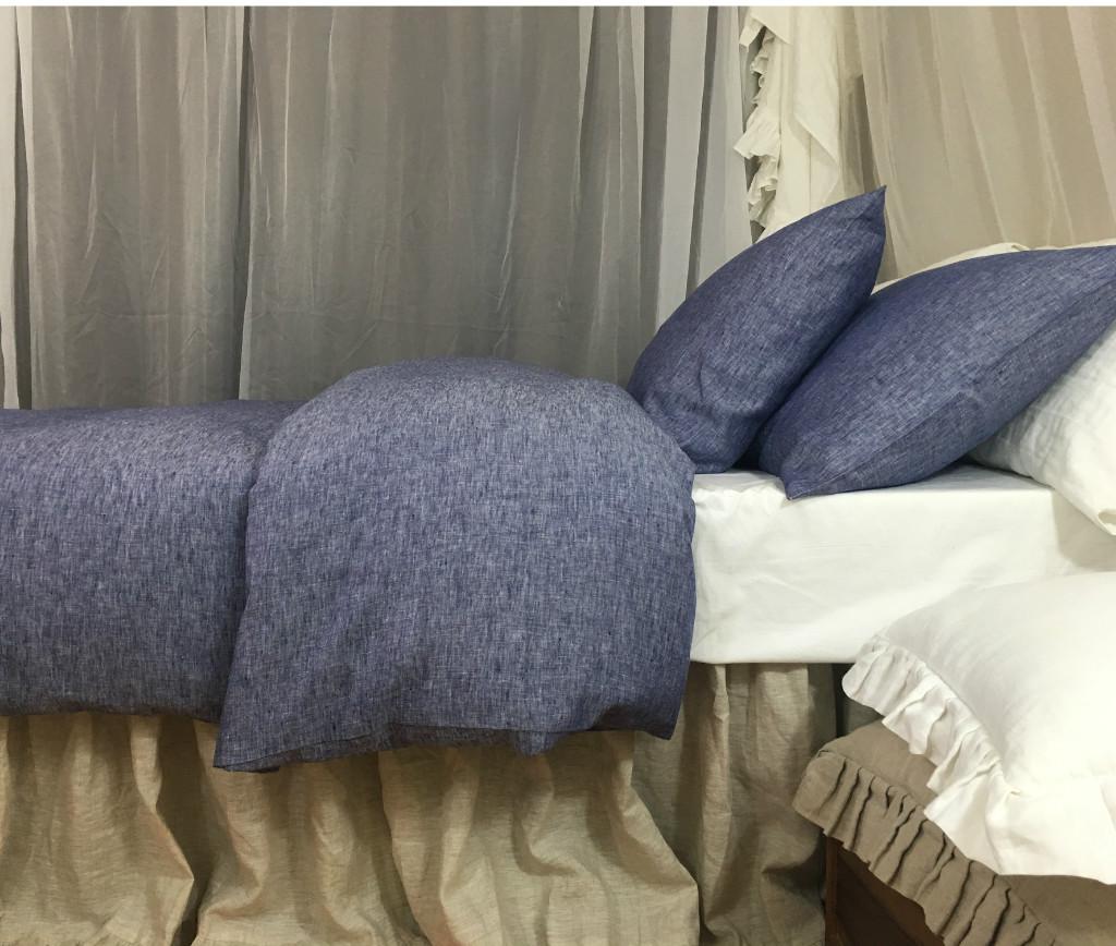 chambray denim linen duvet cover